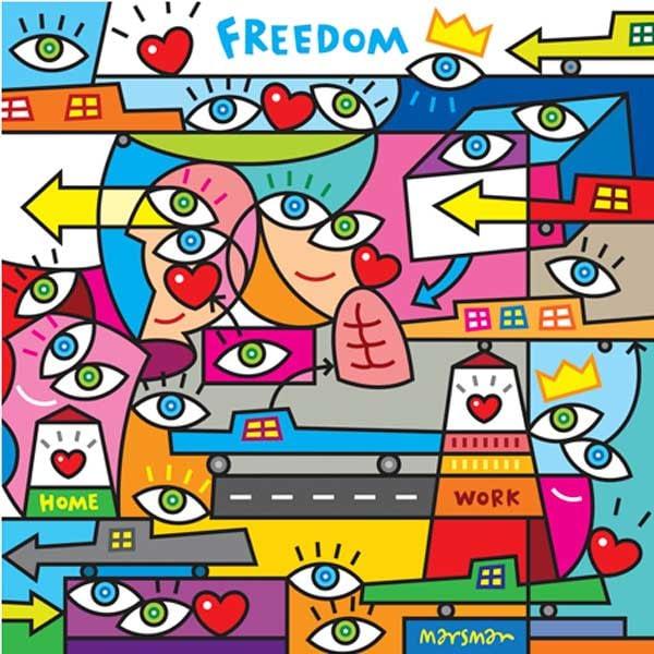 Schilderij Marsman Freedom