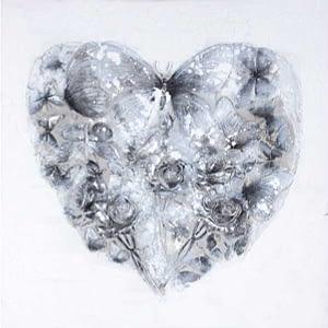 Schilderij hart van vlinders